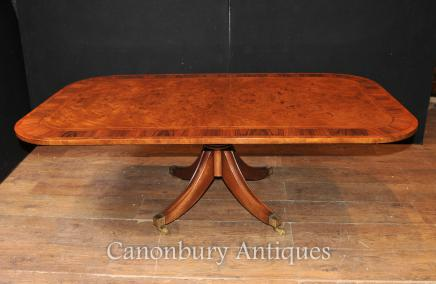 Antique Coffee Table - Burr Walnut  Dining Tables