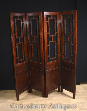 Antique Chinese Screen Room Divider Circa 1880