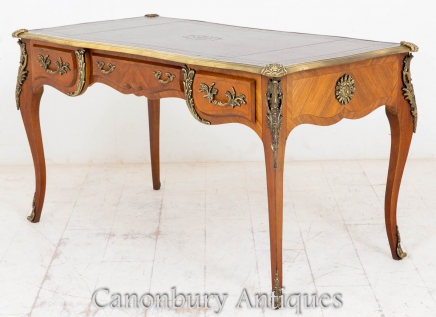 Antique French Empire Bureau Plat Writing Desk