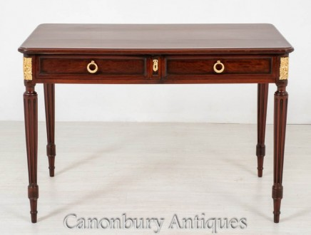 Antique French Side Table - Mahogany Desk 1880