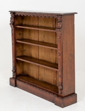 Antique Oak Bookcase - Open Front Bookcases Circa 1870