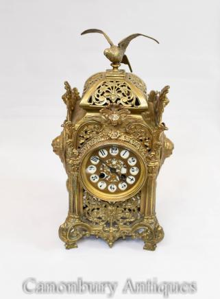 Antique Carriage Clock - Ormolu French Empire  Gilt