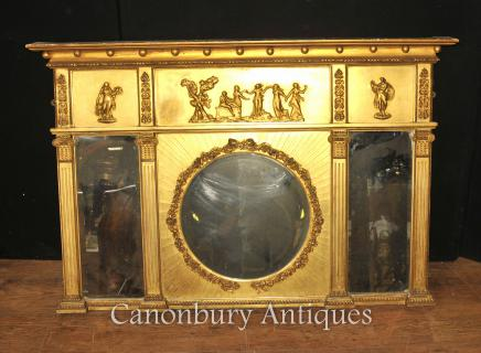 Regency Gilt Mantle Mirror - Antique English Mirrors 1815