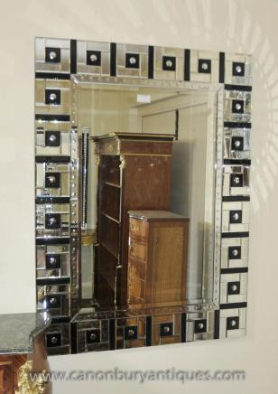 Art Deco Glass Mantle Mirror 1920s Mirrors