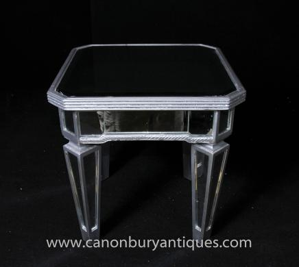 Art Deco Mirrored Side Table Cocktail Tables Borghese
