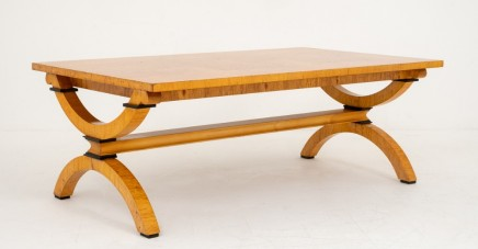 Art Deco Birch Coffee Table Circa 1930
