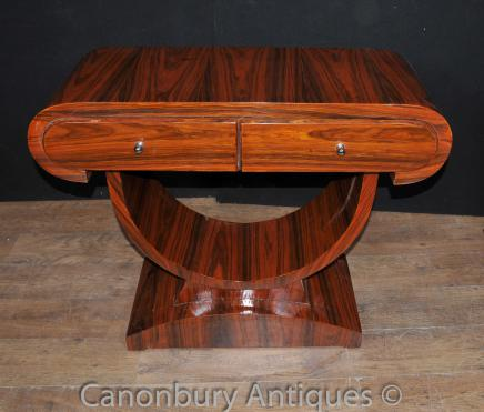 Art Deco Console Table Rosewood Hall Tables