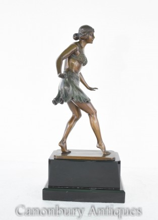 Art Deco Dancer by Rieder Statue Egyptian Dance Figurine