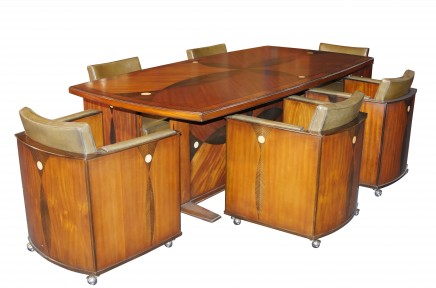 Art Deco Dining Set - Table and Chairs Boardrooom Suite