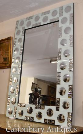 Art Deco Glass Pier Mirror Mirrors