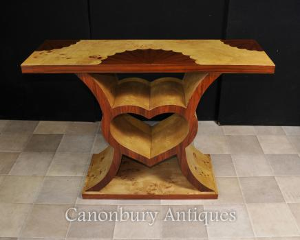 Art Deco Console Table - Heart Design 1920s Modernist Furniture