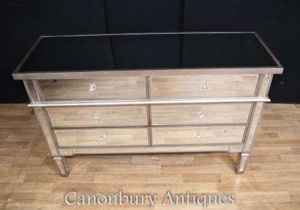 Mirrored Chest of Drawers - Art Deco Commode Mirror