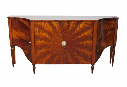 Art Deco Sideboard Server - Flame Mahogany Cabinet