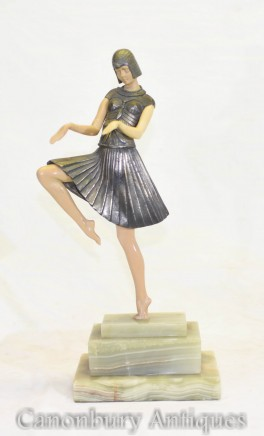 Art Deco Snake Charmer by Chiparus Dancer Statue Figurine