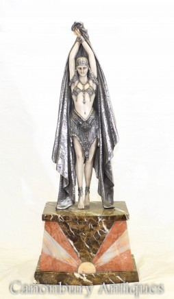 Art Deco Statue Antinea Egyptian Dancer by Chiparus