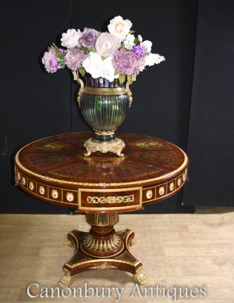 Boulle Centre Table - French Louis XVI Interiors Inlay