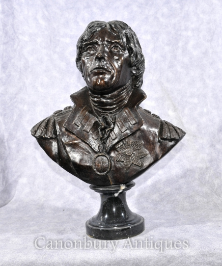 Bronze Bust Horatio Nelson English Naval Captain Trafalgar