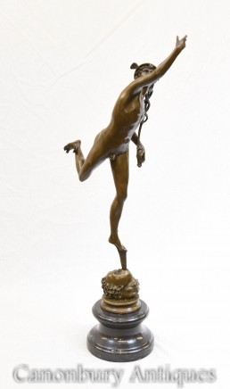 Bronze Flying Mercury Statue Hermes Giambologna