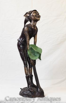Bronze Pixie Statue Fountain Celtic Fairey Elph Casting
