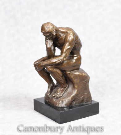 Bronze Statue Rodins The Thinker Auguste Rodin Sculpture French Art