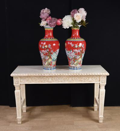 Chinese Bone Hall Table Hand Carved Bone Console Tables