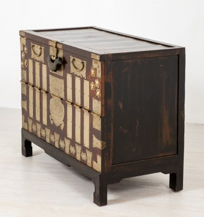 Chinese Marriage Chest - Decorative Antique Cabinet Trunk