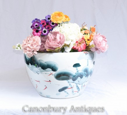 Chinese Ming Porcelain Planter - Single China Urn