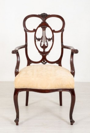 Chippendale Carver Arm Chair - Antique Mahogany 1890