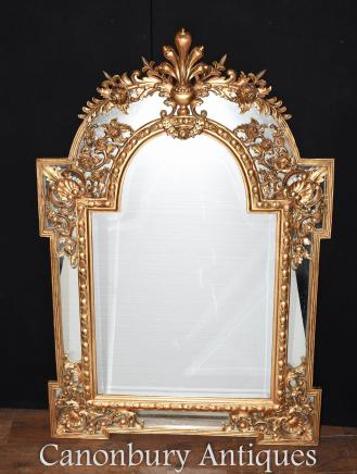 Chippendale Gilt Pier Mirror Glass Mirrors