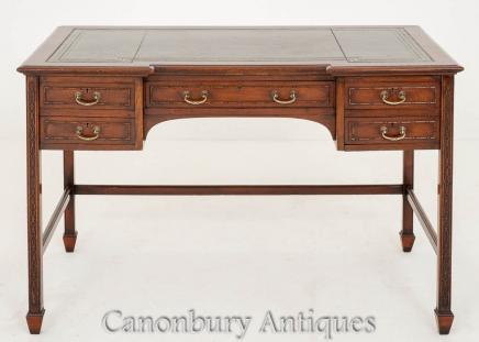 Chippendale Writing Table Desk Mahogany Circa 1890