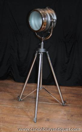 Chrome Tripod Floor Lamp Architectural Lighting Light Interiors