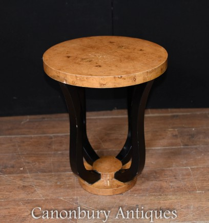 Deco Side Table - Blonde Walnut Occasional Tables