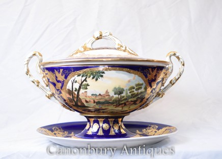 Dresden Porcelain Tureen Dish Bowl - German Pottery
