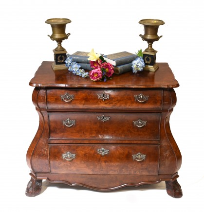 Dutch Bombe Commode Antique Chest of Drawers 1920