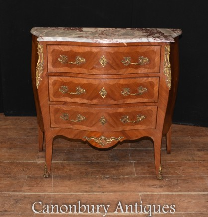 Empire Bombe Commode - French Antique Chest Drawers 1920