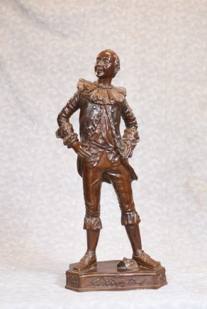 English Bronze Actor Statue - Shakesperian Classical Thespian Casting