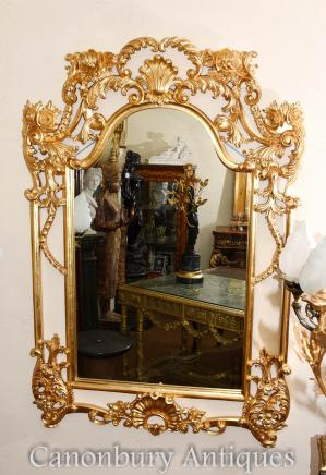 English George II Gilt Pier Mirror Rococo Mirrors