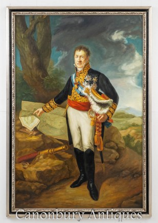 English Oil Painting Duke of Wellington - Military Art Portrait