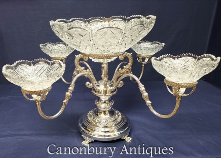 Silver Plate Centre Piece Bowl Dish - Epergne Sheffield