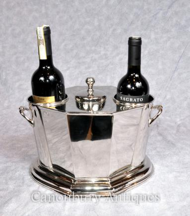 Silver Plate Wine Cooler -  Champagne Bucket Server