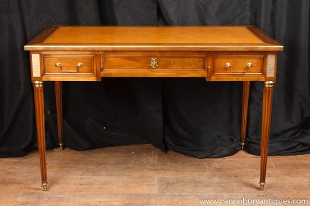 French Empire Bureau Plat Writing Table Desk