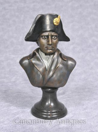 Bronze Napoleon Bust - French Emperor I Bonaparte Military