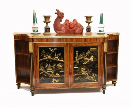 French Chiffonier Sideboard Chinoiserie Rosewood 1930s