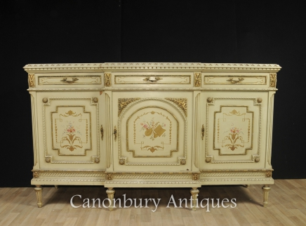 French Painted Cabinet - Classical Sideboard Server Buffet