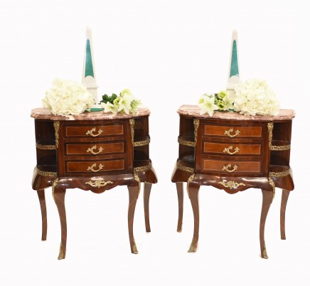 French Empire Bedside Chests Nightstands Cabinets