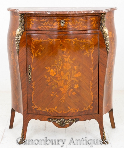 French Empire Cabinet Chest Marquetry Inlay Furniture