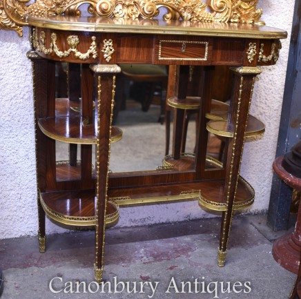 French Empire Console Table Mirrored Interiors