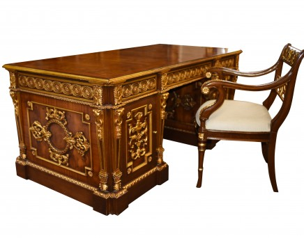 French Empire Desk and Chair Set - Elegant Home Office