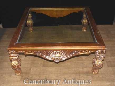 French Empire Gilt Coffee Table