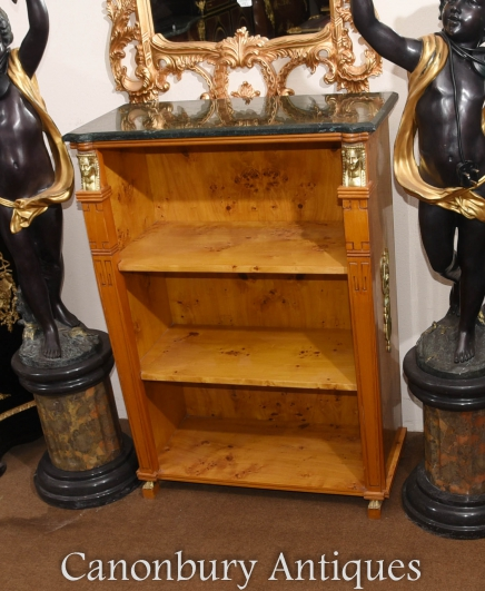 French Empire Open Bookcase Walnut Gilt Pharo